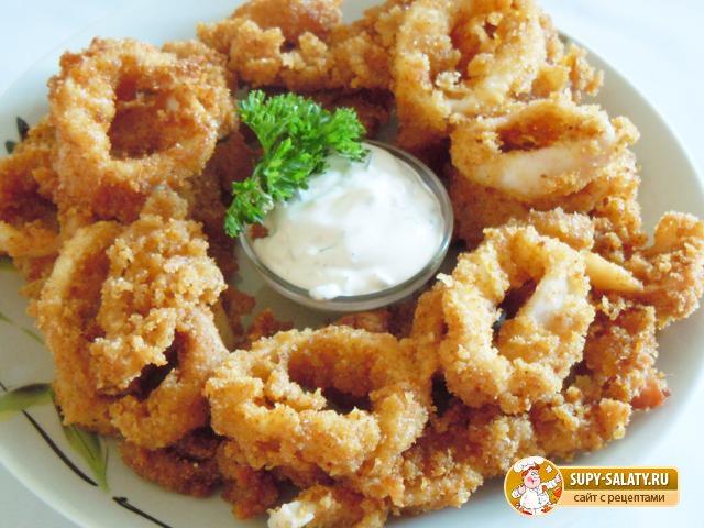 Кольца кальмаров в кляре рецепт пошагово