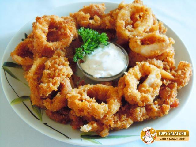 Кольца кальмара в кляре рецепт с фото