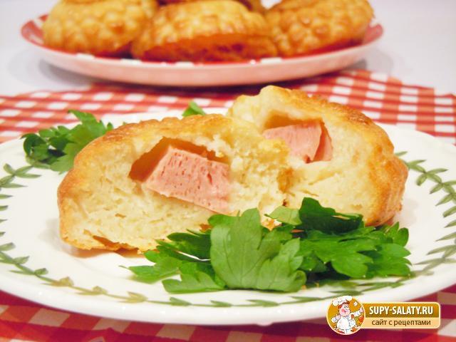 Маффины с колбасой. Рецепт с фото