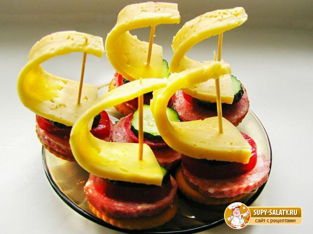 Закуска «Парусники». Рецепт с фото