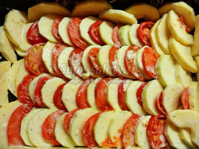 Жареные кабачки с помидорами - рецепт с фото 78