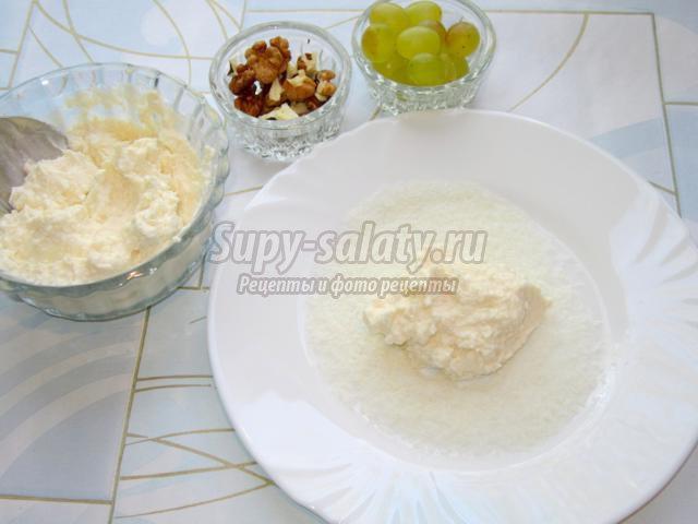 Творожный десерт Снеговички с сюрпризом
