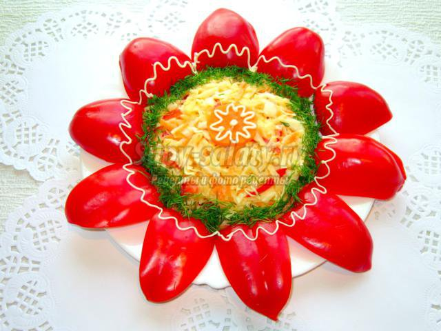 Салат Аленький цветочек