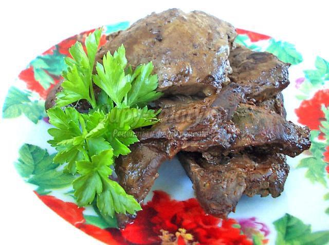 Печень говяжья жареная. Рецепт с фото