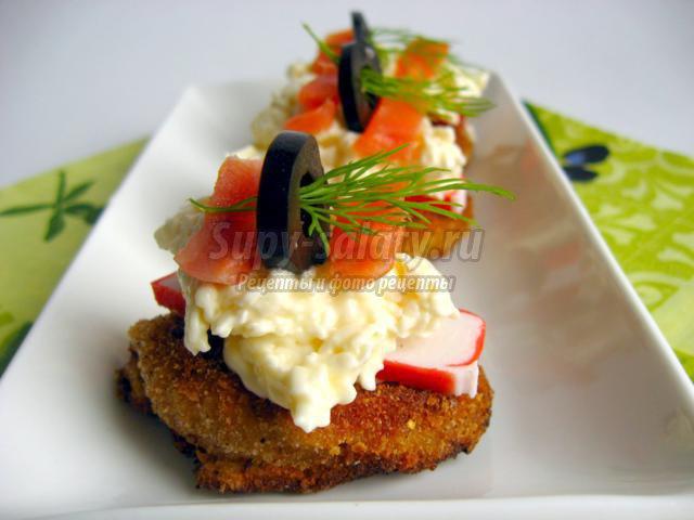 Закуска из молодого картофеля с красной рыбой 20