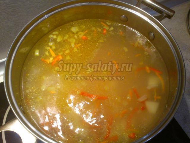 суп с телятиной и перловкой рецепт с фото