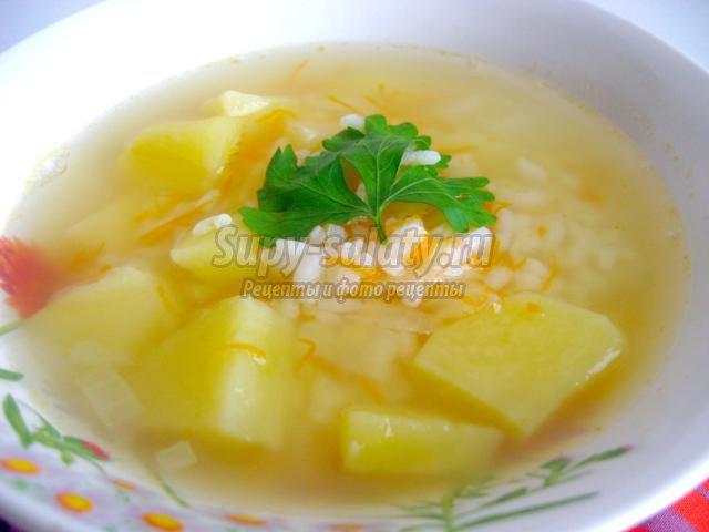 Диетически суп с рисом