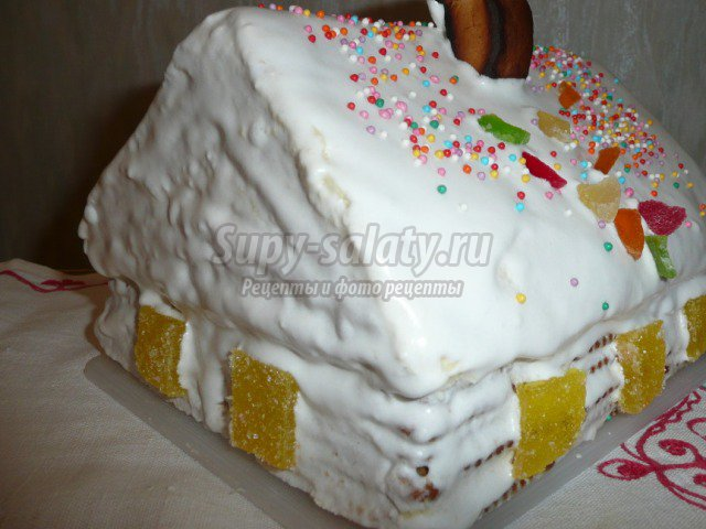 Торт Домик в снегу