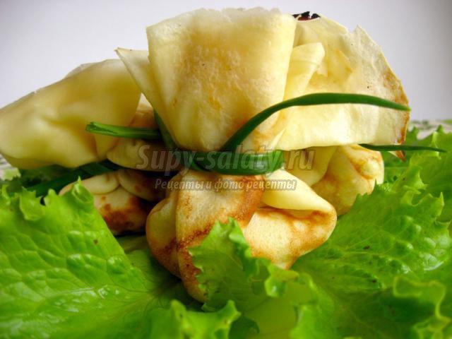 Блинчики с салатом