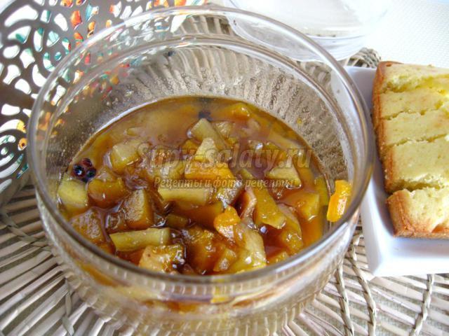 Варенье из тыквы с яблоками