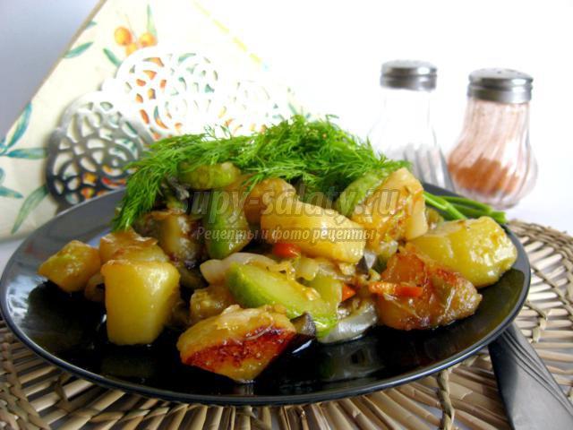 Рагу с овощами и пекинской капустой