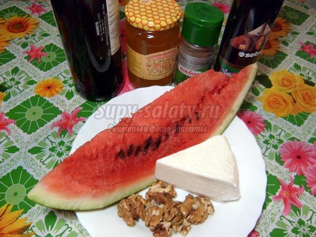 Арбузный греческий салат