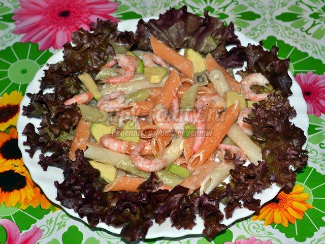 Салат с овощными пене
