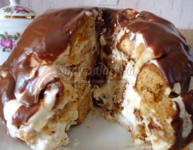 торт из творога и сметаны рецепт с фото