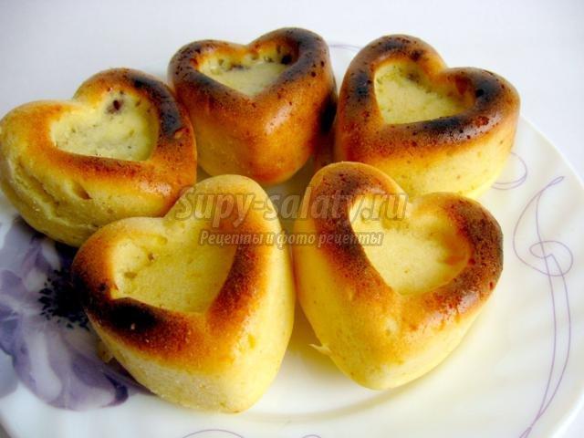Бисквитные лимонные сердечки