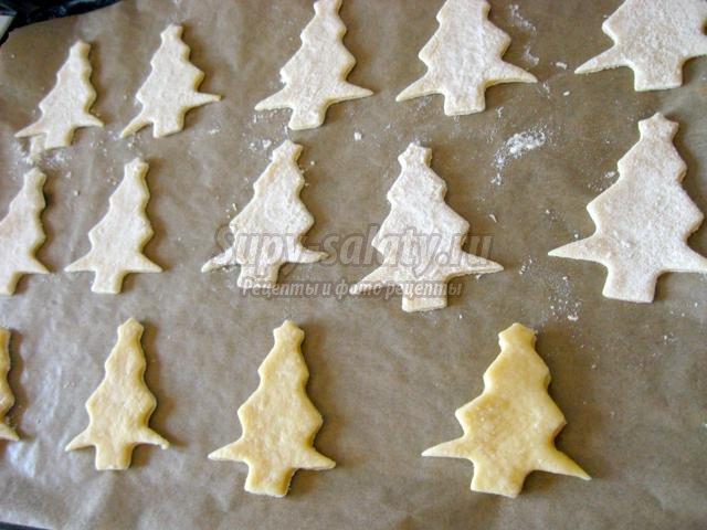 Новогоднее печенье - елочки