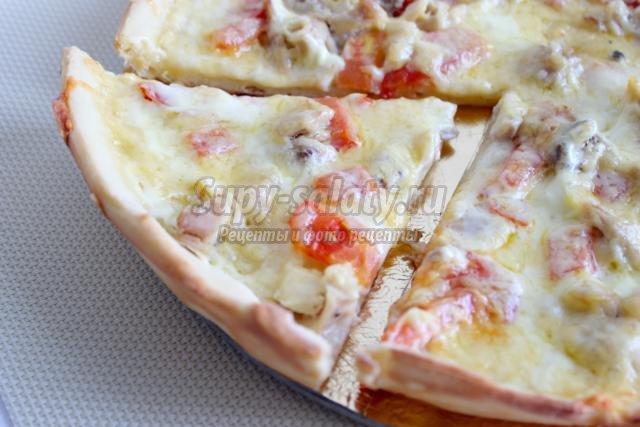 Рецепты пицца с курицей и сыром рецепт
