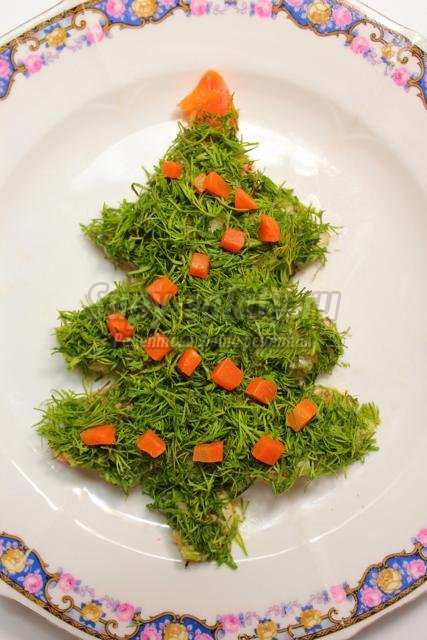 Салат Новогодняя елочка