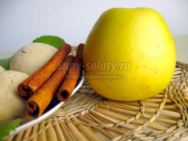 Яблочное печенье с корицей