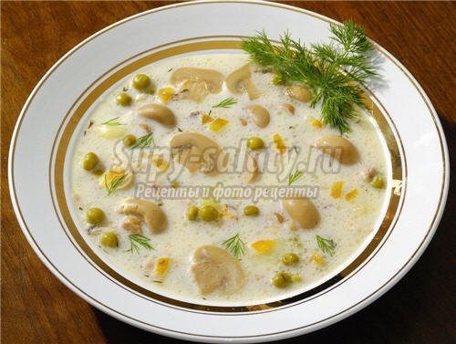 изысканный сырный суп с креветками