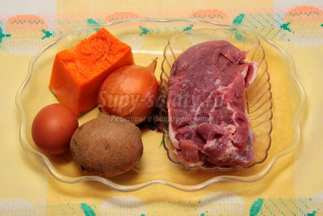 Мясные котлеты с тыквой