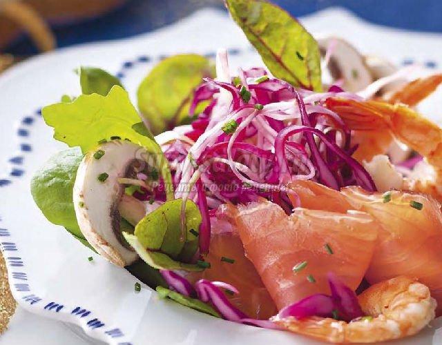 Рецепт салата из семги слабосоленой с фото