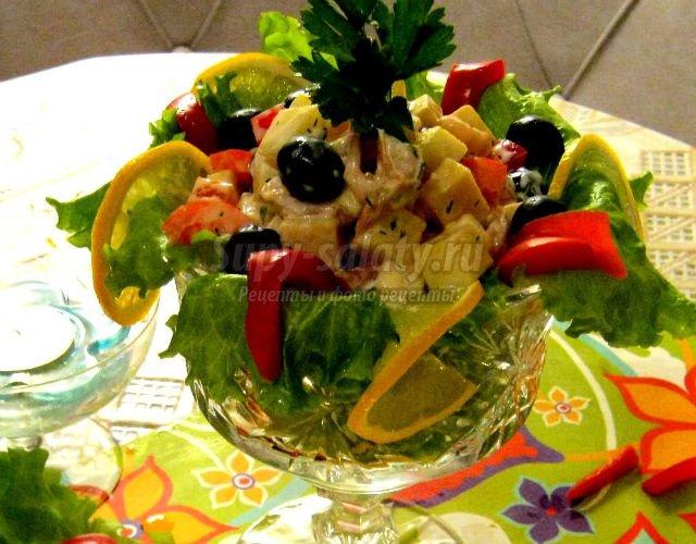 эксклюзивные праздничные салаты фото