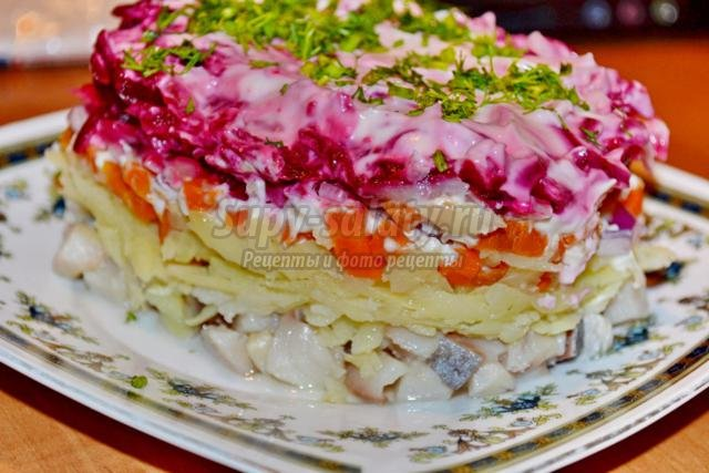праздничный салат. Шуба
