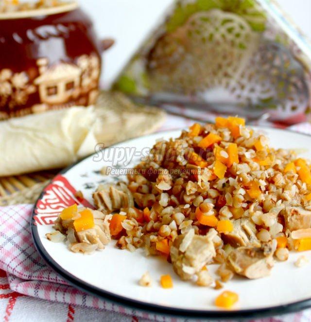 гречневая каша с индюшатиной и овощами