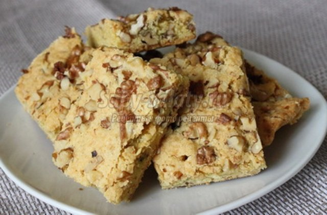 Простой рецепт печенья с орехами