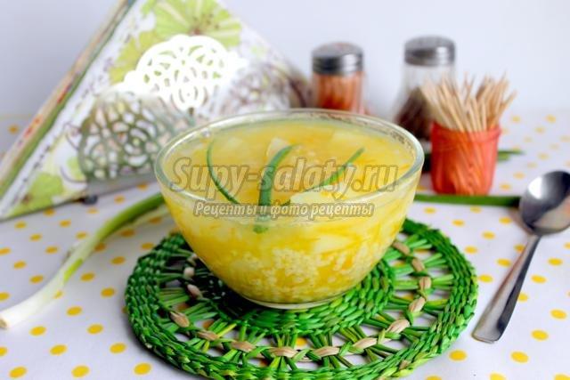 тыквенный суп с пшеном рецепт