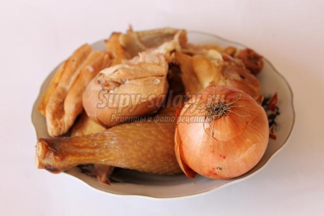 блинчики с копченой курицей