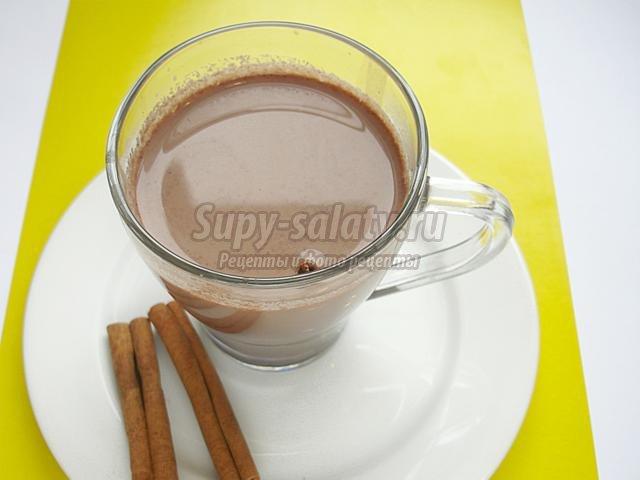 какао с корицей и имбирем