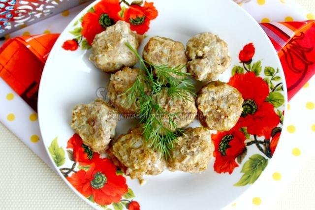 котлеты из телятины с сыром на пару