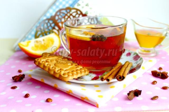 чай с анисом и мандариновыми корками