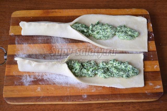 Пирог Улитка со шпинатом