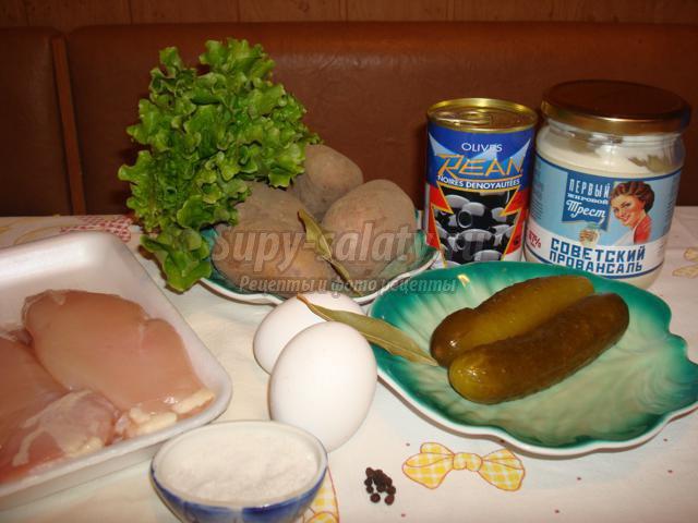 салат из курицы. Столичный