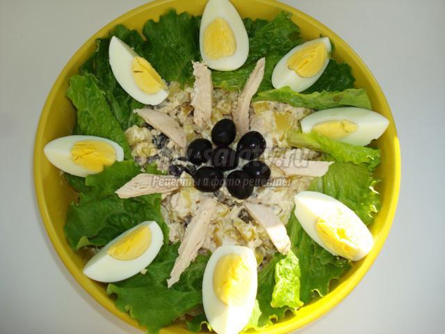 салат из курицы с пошаговым рецептом