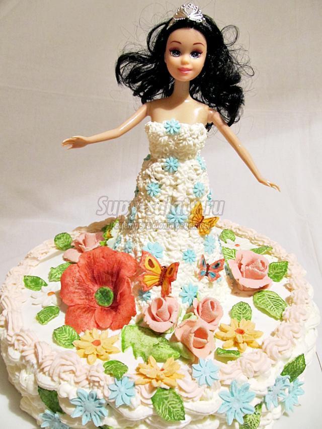 Торт кукла барби рецепт пошагово