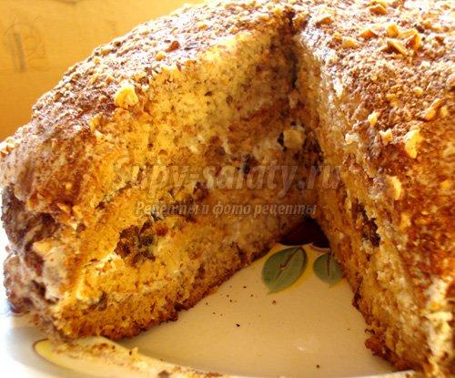 рецепты легких тортов с фото