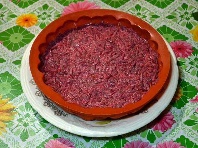 салат-торт. Селедка под шубой в желе