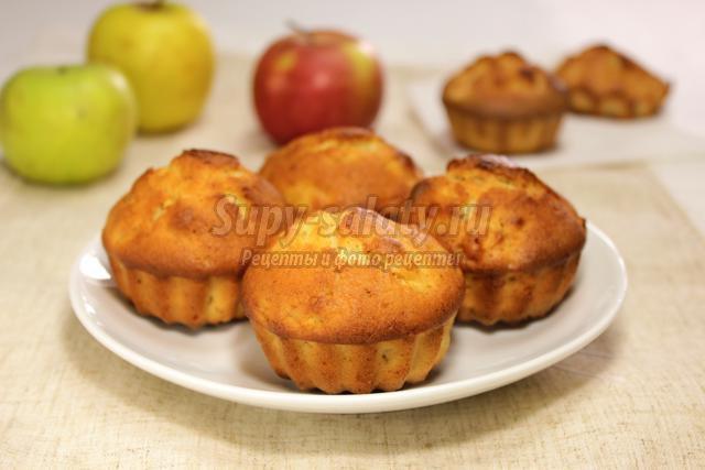 маффины с яблоками