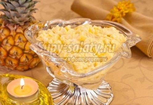 Салат курицы с маринованными грибами