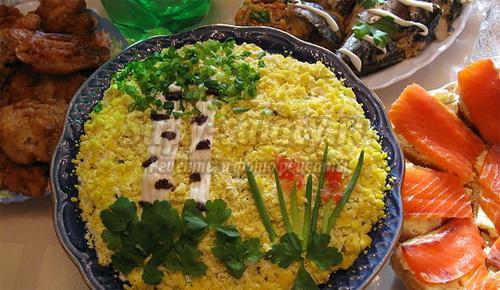 рецепт салата березка с фото без чернослива