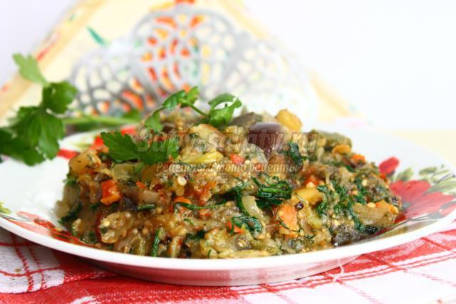 Рагу овощное с кабачками рецепт на зиму
