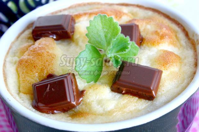 рисовый пудинг с шоколадом