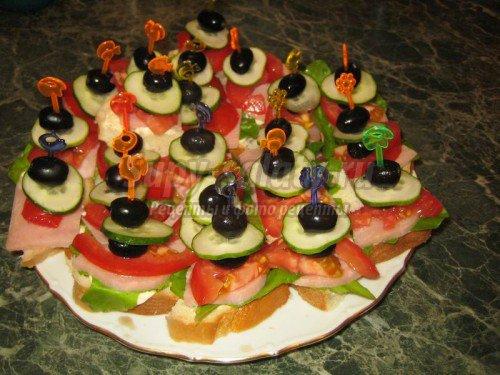 бутерброды на фуршет рецепты с фото