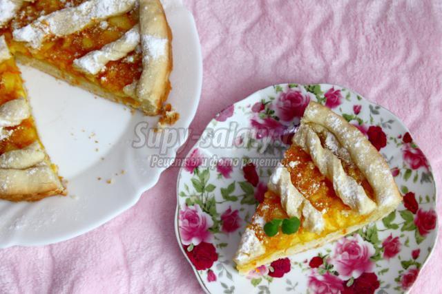 яблочно-апельсиновый пирог