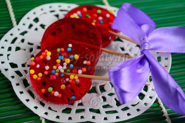 Как сделать конфеты на палочки