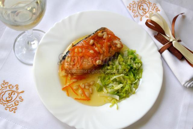 семга в карамельном соусе